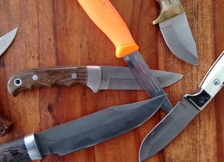 udvalg af jagtknive