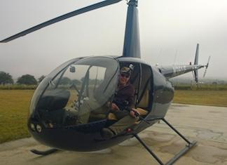 Vildsvineregulering fra helikopter