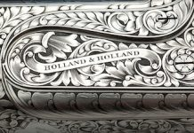 Holland & Holland close-up gravering