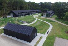 drone foto af Jagtens Hus - Danmarks Jægerforbund