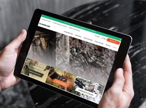 Thehuntingshop.dk på iPadden