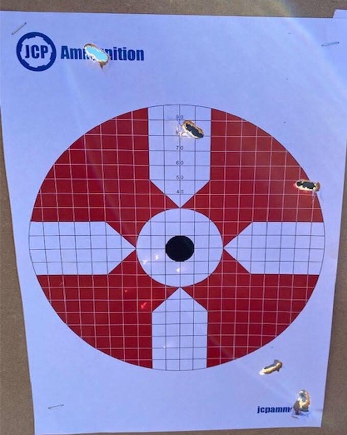 """træfbillede med kaliber 6.5 i blyfri - kuglerne """"vælter"""""""