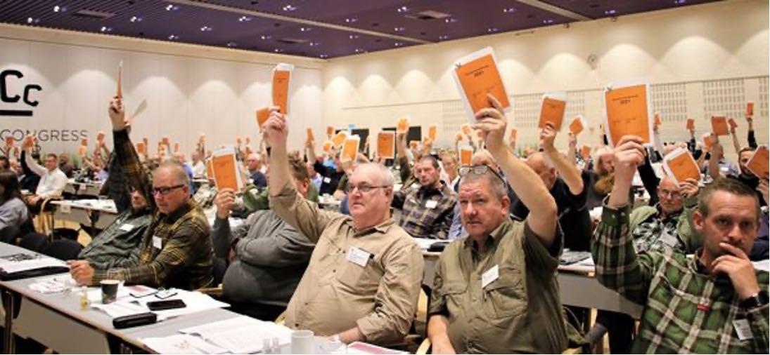 Afstemning på jægerforbundets repræsentatsskabmøde
